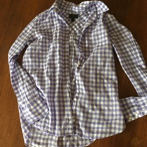 Boy Fit Button Down in Crinkled Gingham